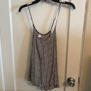 Old Navy geometric tank with tie cross back